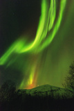 Aurora Borealis (Northern Lights) on Kungsleden (Kings Trail) Photographic Print by Christian Kober