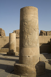 Pillars with Bas-Relief of the God Sobek Photographic Print by Richard Maschmeyer