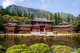 Byodo-In Temple, Valley of the Temples, Kaneohe, Oahu, Hawaii, United States of America, Pacific Reproduction photographique par Michael DeFreitas