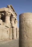 Pillar with Bas-Relief, Forecourt, Temple of Haroeris and Sobek Photographic Print by Richard Maschmeyer