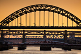 Newcastle Upon Tyne Skyline, Gateshead with the Tyne Bridge over River Tyne, Tyne and Wear Photographic Print by Neale Clark