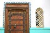 Traditional Moroccan Decorative Wooden Door, Tangier, Morocco, North Africa, Africa Photographic Print by Neil Farrin