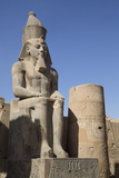 Statue of Seated Ramses Ii, Court of Ramses Ii, Luxor Temple Photographic Print by Richard Maschmeyer