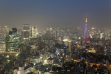 Dusk View of Tokyo from Tokyo City View Observation Deck, Roppongi Hills, Tokyo, Japan Photographic Print by Stuart Black