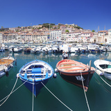 Harbour with Fishing Boats, Portoferraio, Island of Elba Photographic Print by Markus Lange