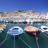 Harbour with Fishing Boats, Portoferraio, Island of Elba Stampa fotografica di Markus Lange