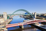 Newcastle Upon Tyne City with Tyne Bridge and Swing Bridge over River Tyne Photographic Print by Neale Clark