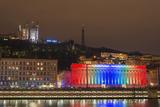 Fete Des Lumieres (Festival of Lights) Laser Show Fotografisk tryk af Christian Kober