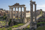 Ancient Roman Road Traverses the Columns and Ruins in the Forum of Ancient Rome, Rome, Lazio, Italy Photographic Print by James Emmerson