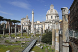 Ruins of Trajan Forum (Foro Traiano) with Trajan's Column and Santa Maria Di Loreto Photographic Print by Stuart Black
