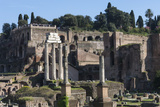 Ancient Roman Forum and the Three Columns of Temple of Castor and Pollux, Rome, Lazio, Italy Photographic Print by James Emmerson
