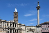 Marian Column and Basilica Santa Maria Maggiore, Rome, Lazio, Italy Photographic Print by James Emmerson