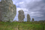 Megalithic Stones in the Menec Alignment at Carnac, Brittany, France, Europe Photographic Print by Rob Cousins