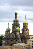 Domes of Church of the Saviour on Spilled Blood, St. Petersburg, Russia Photographic Print by Gavin Hellier