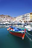 Harbour with Fishing Boats, Portoferraio, Island of Elba Photographic Print by Markus Lange