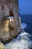 Bar Built in Cliff Caves, Cova D'En Xoroi in Evening, Cala En Porter Photographic Print by Stuart Black