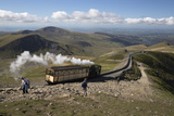 Snowdon Mountain Railway Train and the Llanberis Path Photographic Print by Stuart Black