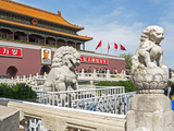Tiananmen Sqaure in Front of Portrait of Mao Zedong on Gate of Heavenly Peace (Tiananmen Gate) Photographic Print by Gavin Hellier