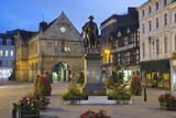 The Old Market Hall and Robert Clive Statue, the Square, Shrewsbury, Shropshire, England, UK Photographic Print by Stuart Black