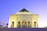 Mausoleum of Mohammed V at Dusk, Rabat, Morocco, North Africa, Africa Photographic Print by Neil Farrin