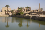 Sacred Lake (Foreground), Karnak Temple, Luxor, Thebes, Egypt, North Africa, Africa Photographic Print by Richard Maschmeyer