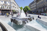 Fountain, Pedestrian Area, Baden-Baden, Black Forest, Baden-Wurttemberg, Germany, Europe Photographic Print by Markus Lange