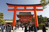 Worship Hall and Torii Gate, Fushimi Inari Taisha Shrine, Kyoto, Japan, Asia Photographic Print by Stuart Black