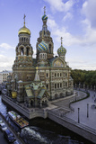 Domes of Church of the Saviour on Spilled Blood, UNESCO World Heritage Site, St. Petersburg, Russia Photographic Print by Gavin Hellier