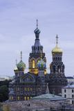 Illuminated Domes of Church of the Saviour on Spilled Blood, St. Petersburg, Russia Photographic Print by Gavin Hellier