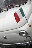 Italian Flag on Fiat 500 Car, Rome, Lazio, Italy, Europe Photographic Print by Stuart Black