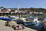 Fishing Harbour and Restaurants Photographic Print by Stuart Black