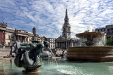 Fountains and St. Martins Church, Trafalgar Square, London, England, United Kingdom Photographic Print by James Emmerson
