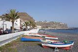 Fishing Boats at the Beach, Playa De Santiago, La Gomera, Canary Islands, Spain, Atlantic, Europe Photographic Print by Markus Lange