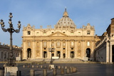 St. Peters and Piazza San Pietro in the Early Morning, Vatican City, Rome, Lazio, Italy Photographic Print by James Emmerson