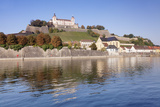 View over the Main River to Marienberg Fortress and St. Burkard Church in Autumn Photographic Print by Markus Lange