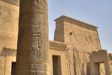 Decorative Relief on Column, from Outside the Birth House, Temple of Isis Photographic Print by Richard Maschmeyer