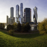 Skyscrapers of the Modern Moscow-City International Business and Finance Development Photographic Print by Gavin Hellier