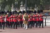 Guards Military Band Marching Past Buckingham Palace En Route to the Trooping of the Colour Photographic Print by James Emmerson