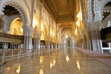 Interior of Hassan Ll Mosque, Casablanca, Morocco, North Africa, Africa Photographic Print by Neil Farrin