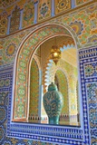 Interior Details of Continental Hotel, Tangier, Morocco, North Africa, Africa Reproduction photographique par Neil Farrin