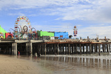 Santa Monica Pier, Pacific Park, Santa Monica, Los Angeles, California, Usa Photographic Print by Wendy Connett