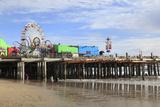 Santa Monica Pier, Pacific Park, Santa Monica, Los Angeles, California, Usa Photographic Print by Wendy Connett