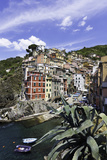Clifftop Village of Riomaggiore, Cinque Terre, UNESCO World Heritage Site, Liguria, Italy, Europe Photographic Print by Gavin Hellier