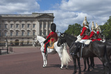 Guards Officer and Escort Awaiting Guards Detachments Outside Buckingham Palace Photographic Print by James Emmerson