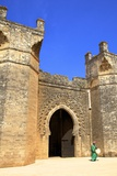 Bab Zaer the Main Gate with Musician, Chellah, Rabat, Morocco, North Africa, Africa Photographic Print by Neil Farrin