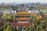 The Forbidden City in Beijing Looking South Taken from the Viewing Point of Jingshan Park Photographic Print by Gavin Hellier