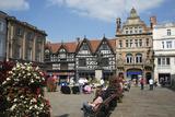 The Square and High Street Shops, Shrewsbury, Shropshire, England, United Kingdom, Europe Fotodruck von Stuart Black