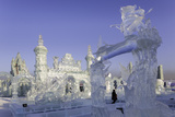 Spectacular Ice Sculptures, Harbin Ice and Snow Festival in Harbin, Heilongjiang Province, China Photographic Print by Gavin Hellier