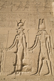 Relief of Cleopatra and Horus, Temple of Hathor, Dendera, Egypt, North Africa, Africa Photographic Print by Richard Maschmeyer