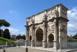 Arch of Constantine, Arch of Titus Beyond, Ancient Roman Forum, Rome, Lazio, Italy Photographic Print by James Emmerson